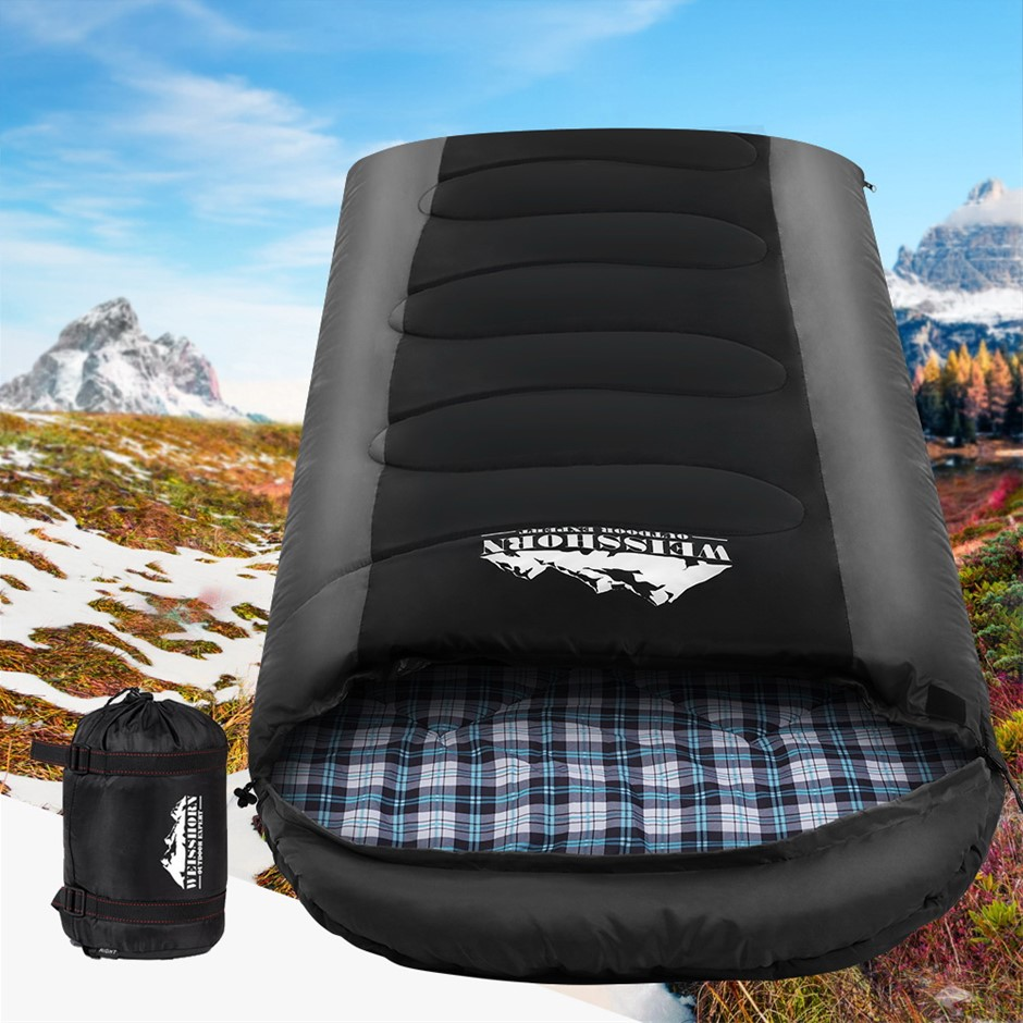 Weisshorn Sleeping Bag Bags Single Camping-20°C to 10°C Tent Thermal Grey