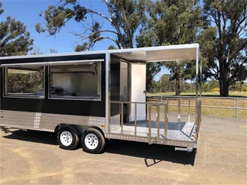 2020 Dual Axle Enclosed 740 Food Trailer with Porch