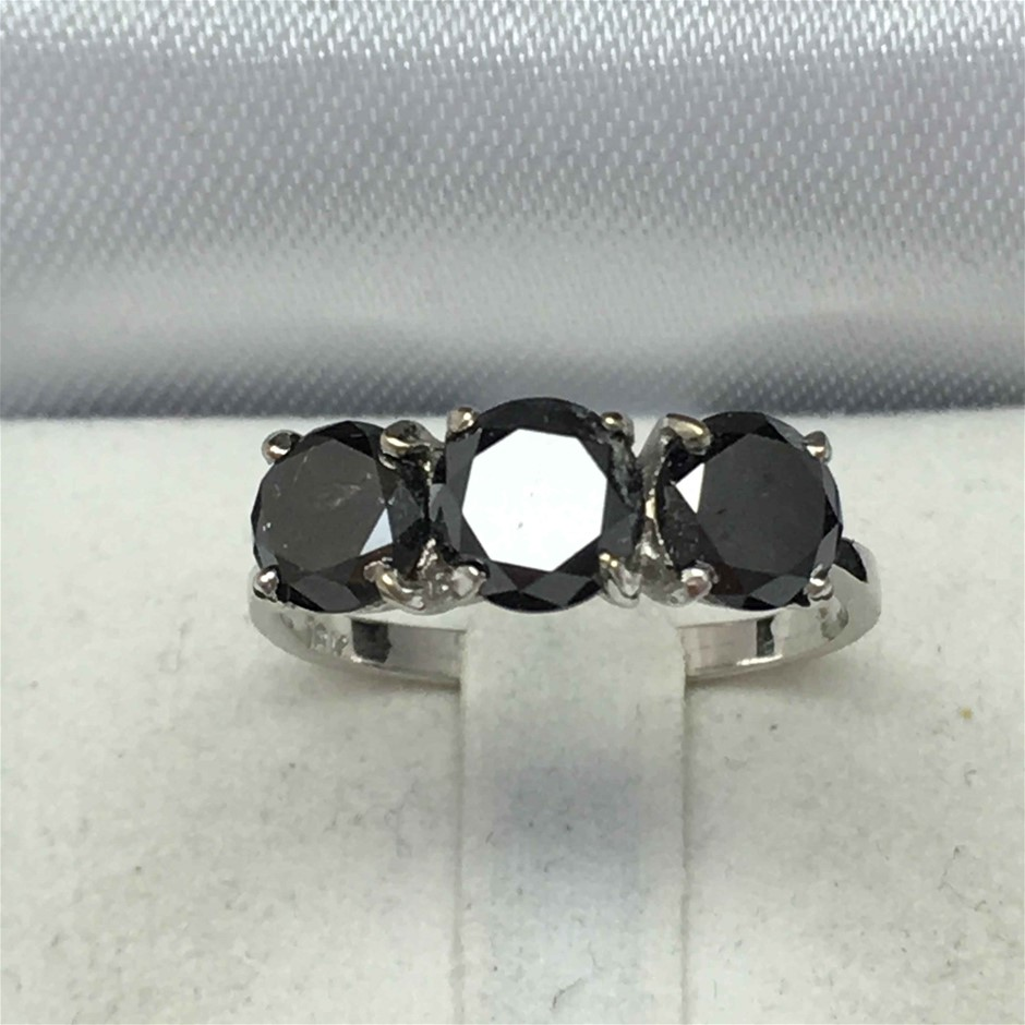 18ct White Gold, 3.22ct Diamond Ring