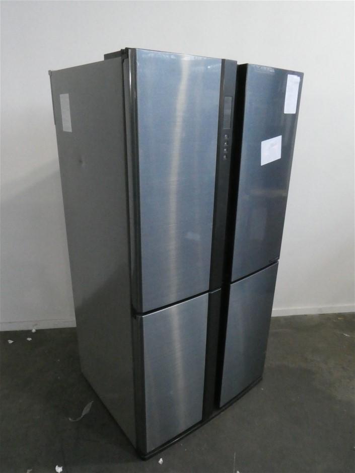Sharp High Gloss steel 624 litre Refrigerator SJXE624FSL