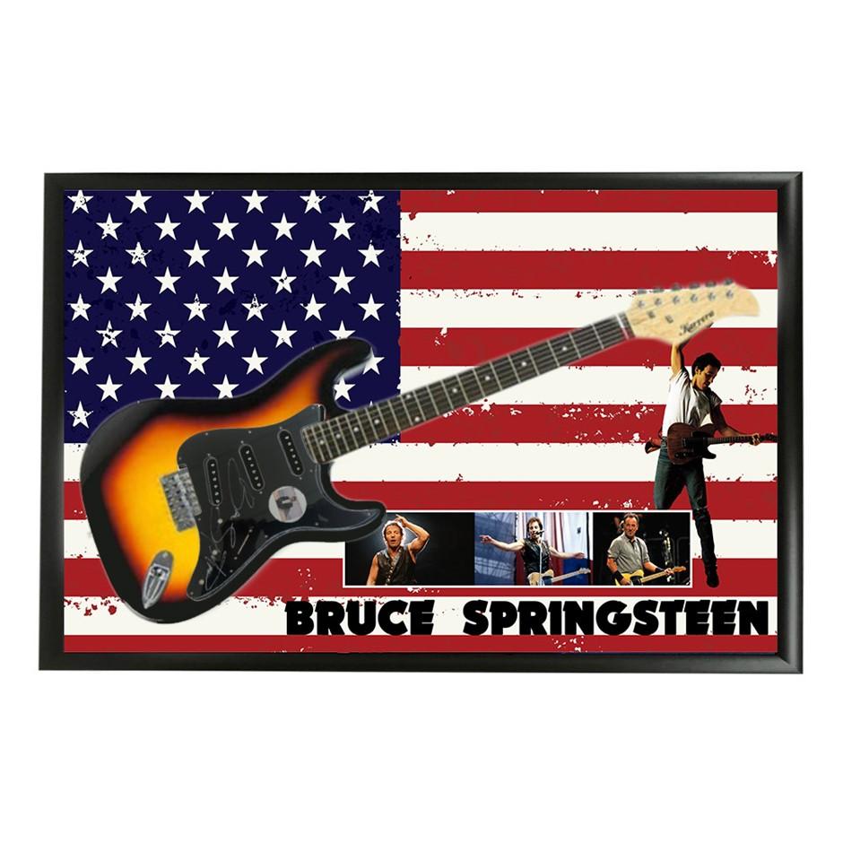 Bruce Springsteen Hand Signed & Framed Full Size Electric Guitar