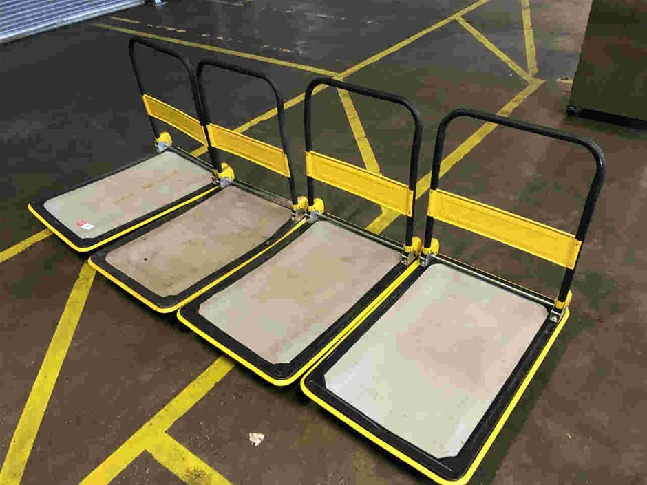Qty 4x Yellow Trolleys