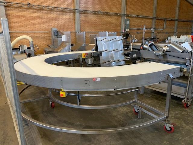 Mobile U-Shaped Conveyor Linked Belt