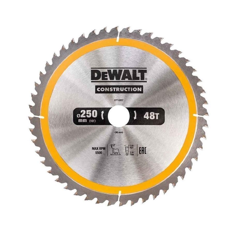 DeWALT Construction Saw Blade 250mm x 30mm x 48 Teeth Buyers Note - Discoun