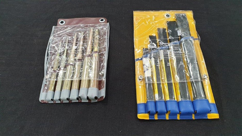 Qty 2 x Jimy Industries Chisel and Punch Sets