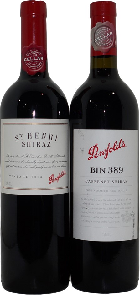 Penfolds Red Wine Mixed Pack (2x 750mL), SA, Cork.