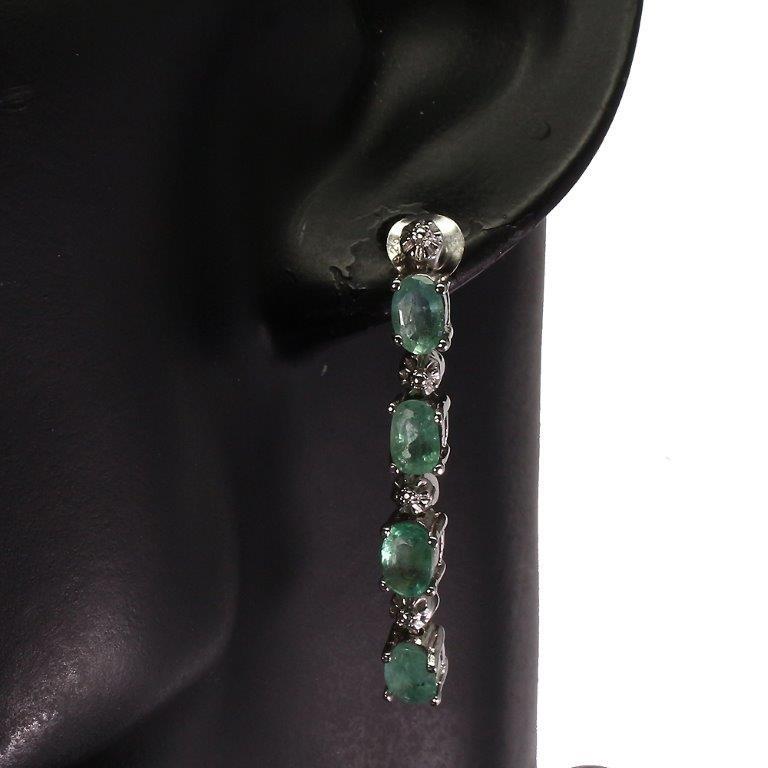 Stunning Genuine Emerald Drop Earrings