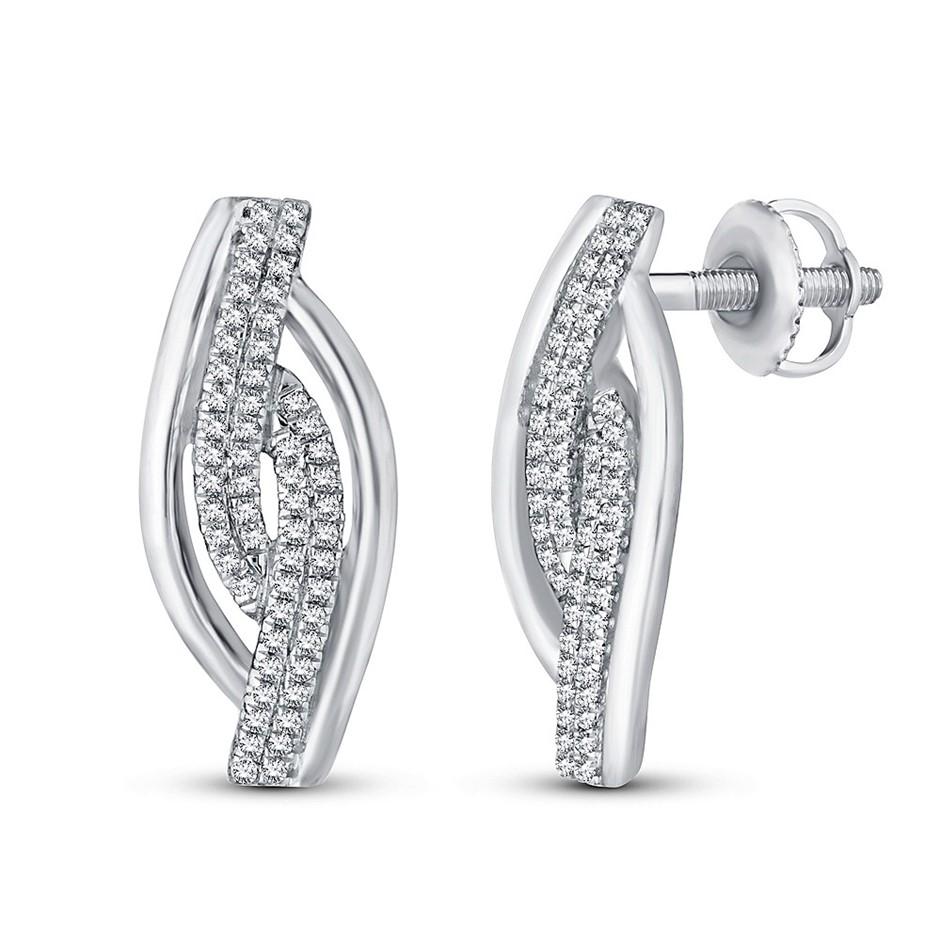 9ct White Gold, 0.15ct Diamond Earring