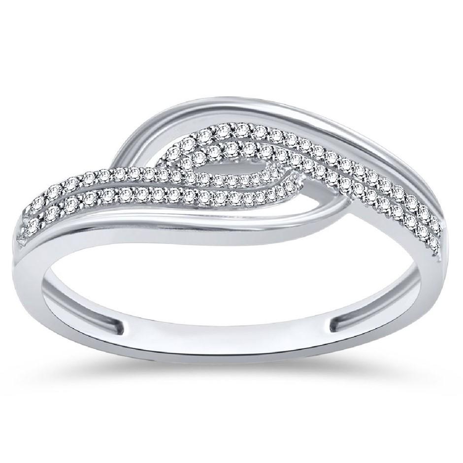 9ct White Gold, 0.10ct Diamond Ring