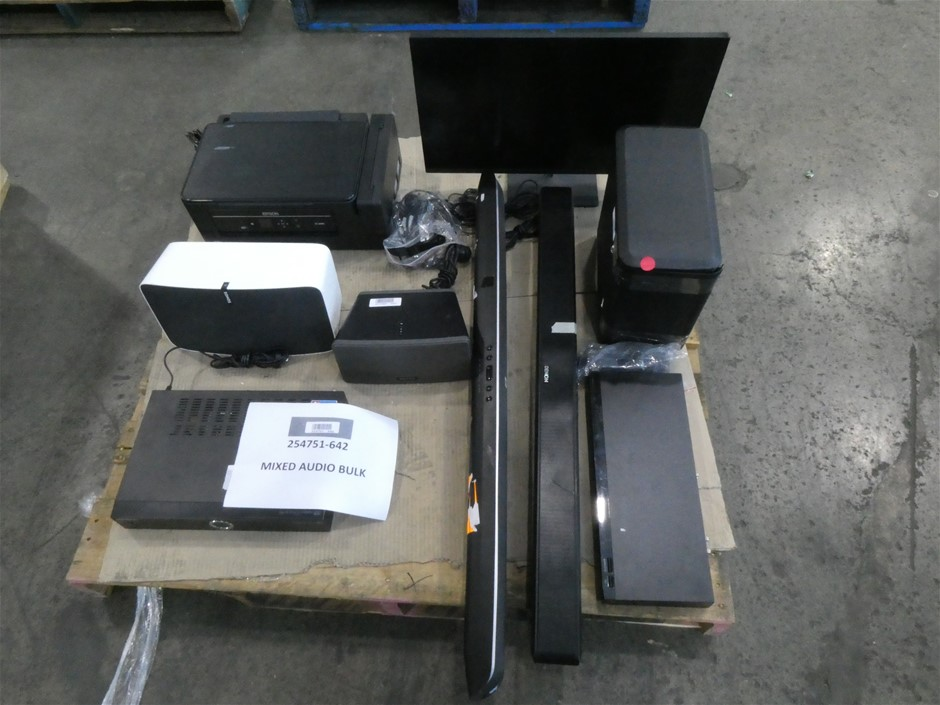 Pallet of Assorted Big Brand USED/UNTESTED Audio Components