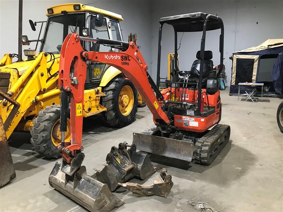 2018 1.7 Ton Rubber Tracked Kubota Excavator