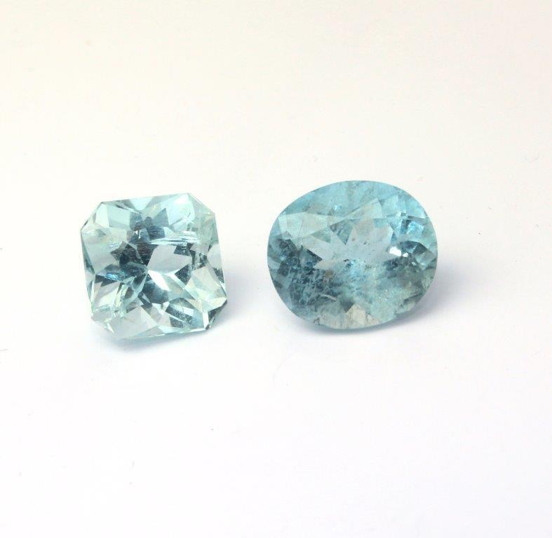 Pair Of Aquamarine Loose Gemstones 8.25 Carats