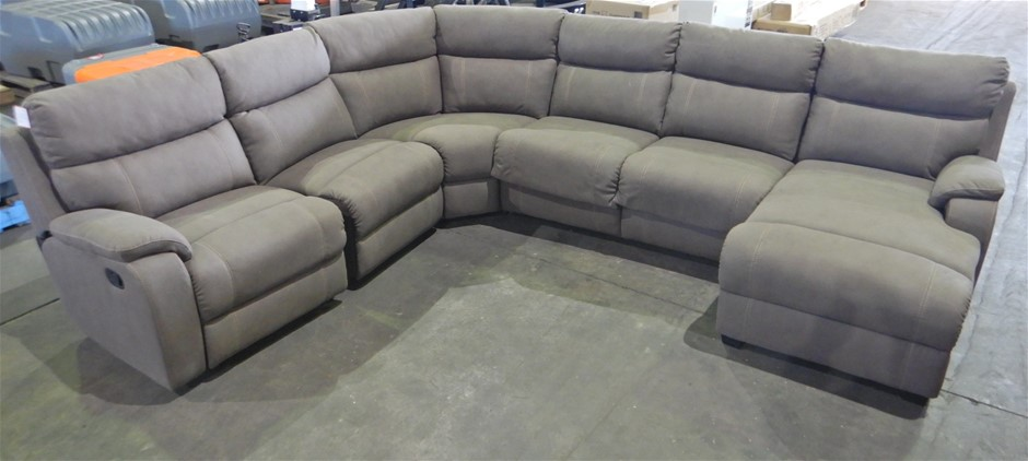 Porter 6-Seater Modular Lounge with Sofa Bed Clay
