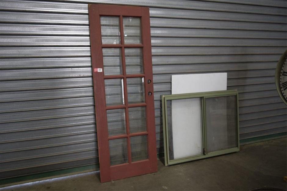 Solid Timber Framed Ten Light Bevelled Glass Door