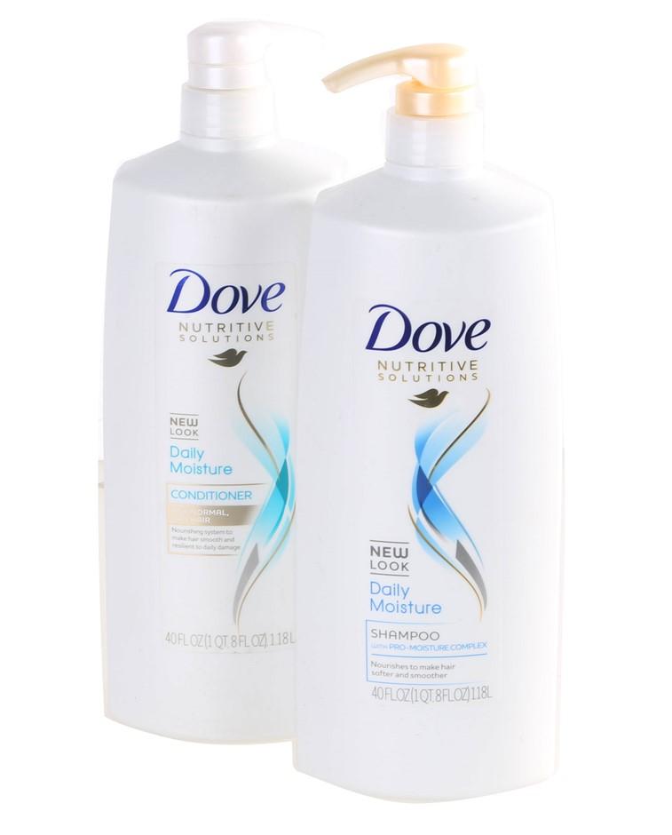 2 x DOVE Shampoo & Conditioner Set 1.18L. N.B. Unlocked Pumps. (SN:CC59404)