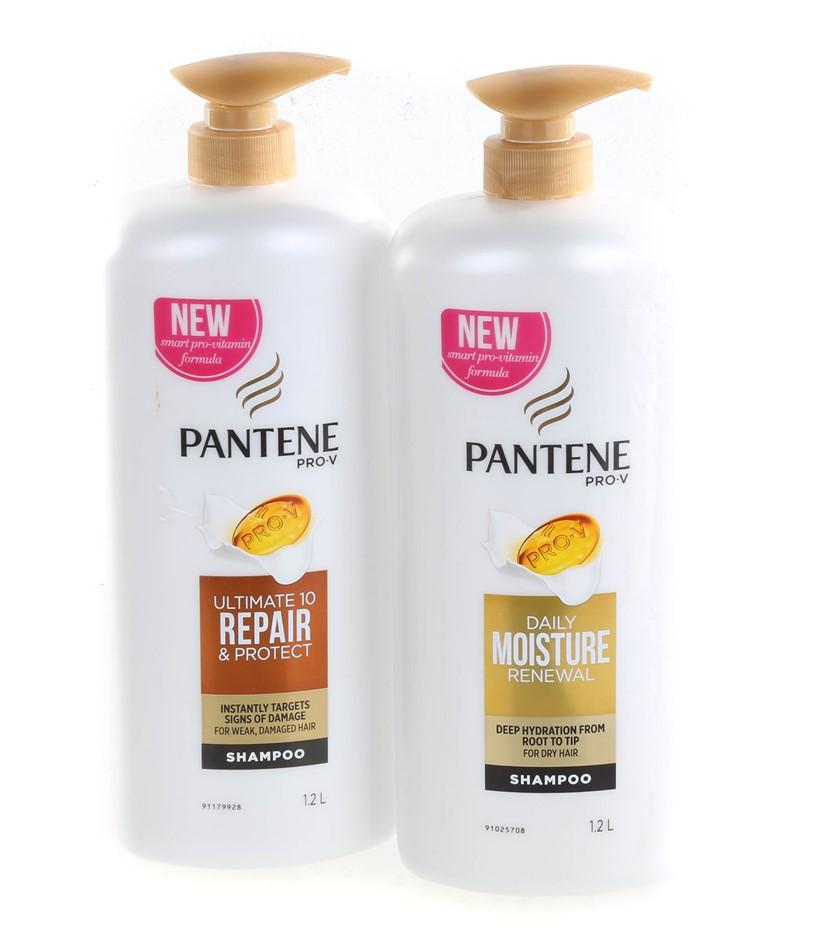 4 x PANTENE Daily Moisture Renewal Shampoo, 1.2L. N.B. Unlocked Pumps. (SN: