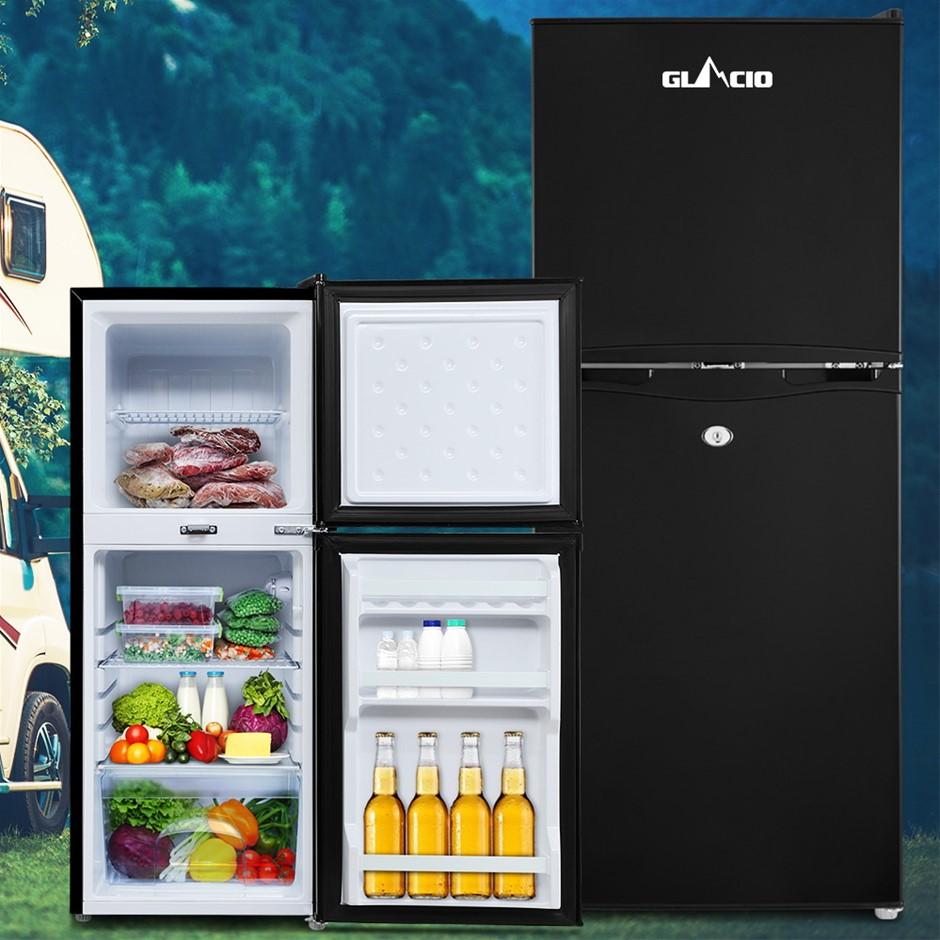 Glacio 120L Portable Fridge Bar Freezer Cooler Upright 12V/24V/240V BLK