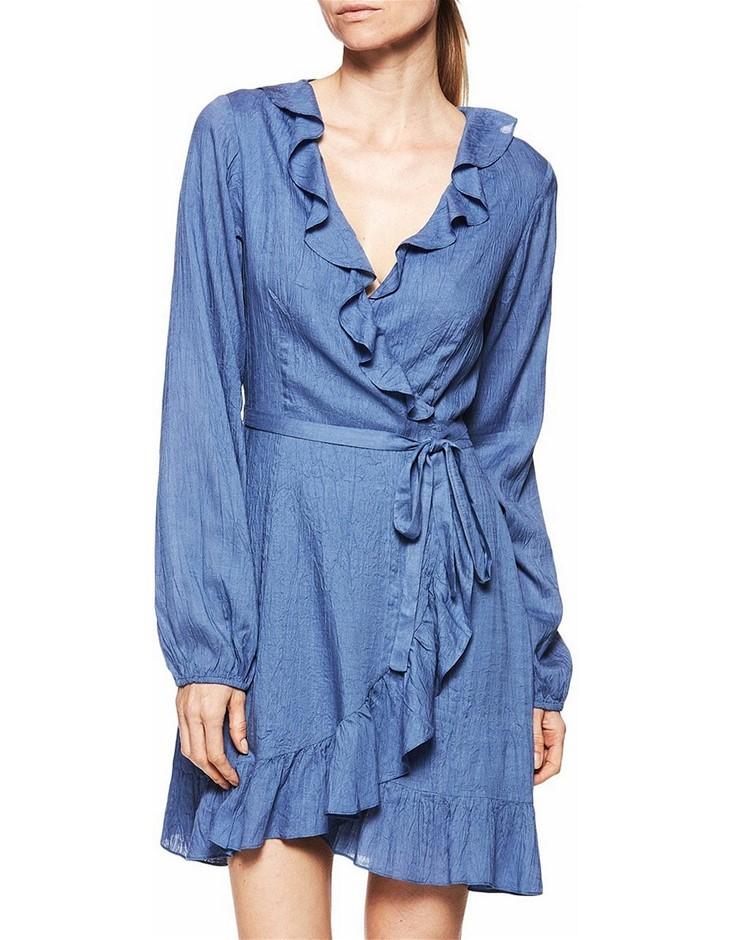 PAIGE Shawna Dress. Size M, Colour: Bijou Blue.100% Modal. ORP: $329 Buyers