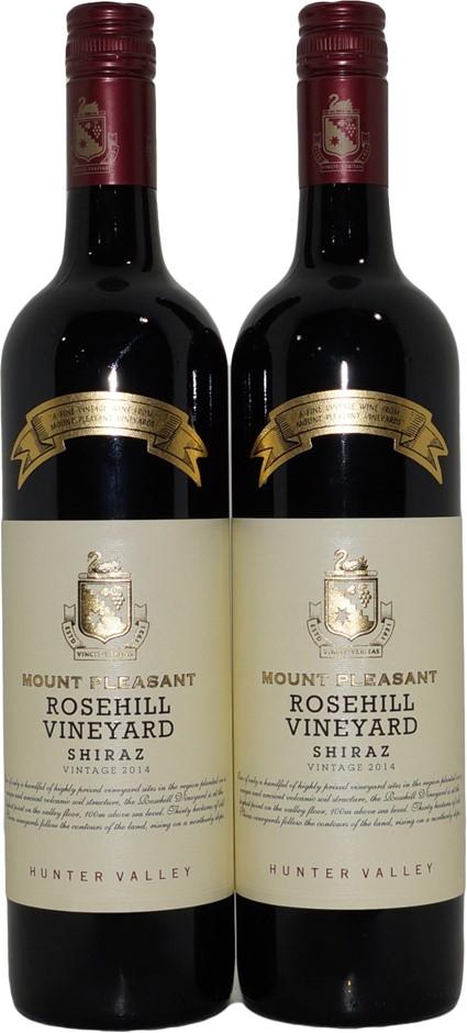 Mount Pleasant Rosehill Vineyard Shiraz 2014 (2x 750mL) Hunter Valley.