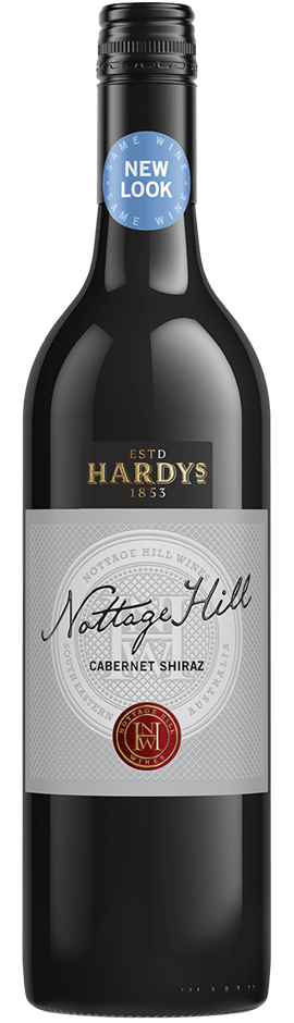Hardys Nottage Hill Cabernet Shiraz 2018 (6 x 750mL), SE AUS.