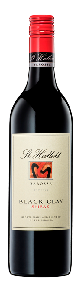St Hallett Black Clay Shiraz 2019 (6 x 750mL), Barossa. SA.