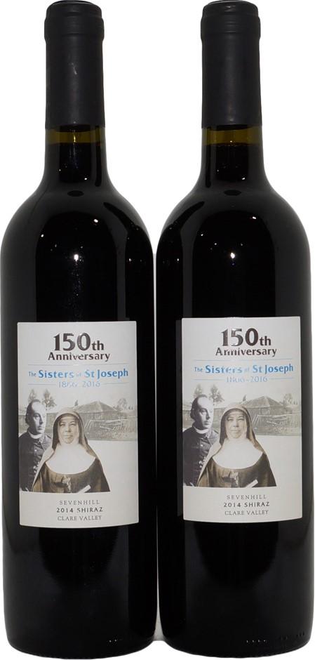 Sevenhill Sisters of St Joseph 150th Clare Valley Shiraz 2014 (2x 750mL) SA
