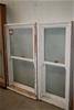 2x Timber Frame Double Hang Window