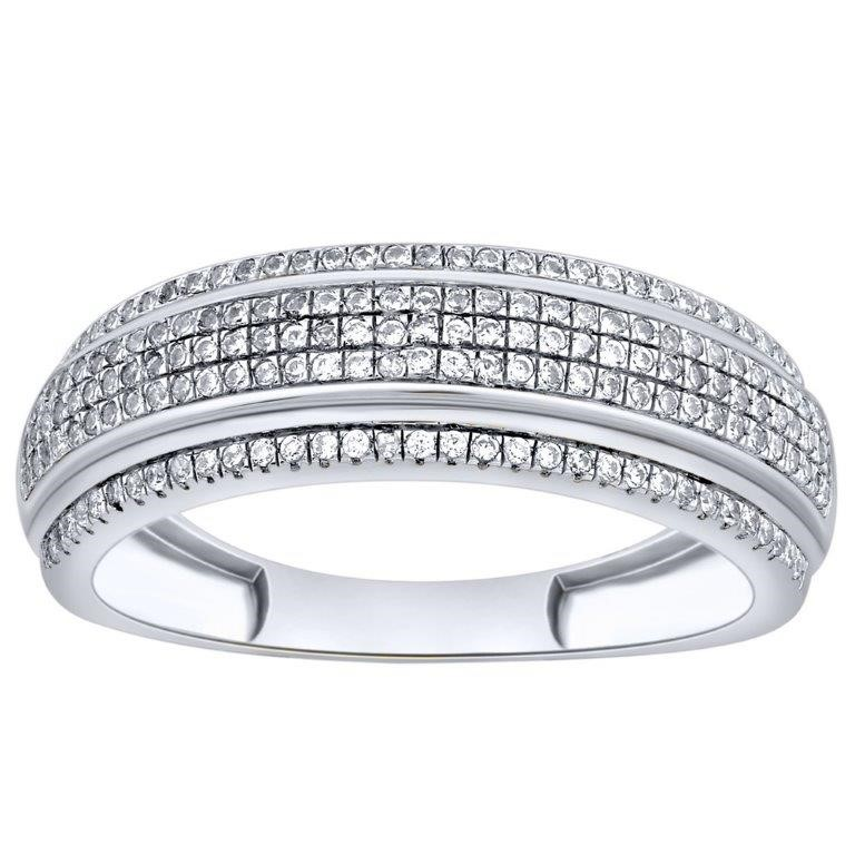 9ct White Gold, 0.23ct Diamond Ring