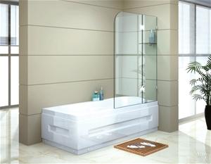 1200 x 1450mm Frameless Bath Panel 10mm