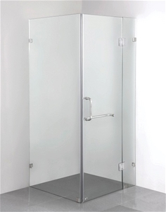 900 x 700mm Frameless 10mm Glass Shower