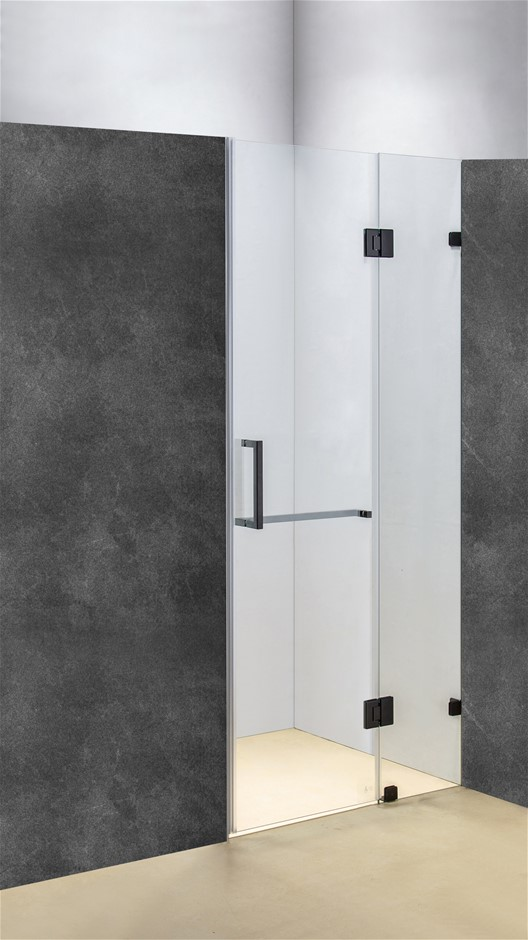 100 x 200cm Wall to Wall Frameless Shower Screen 10mm Glass Della Francesca