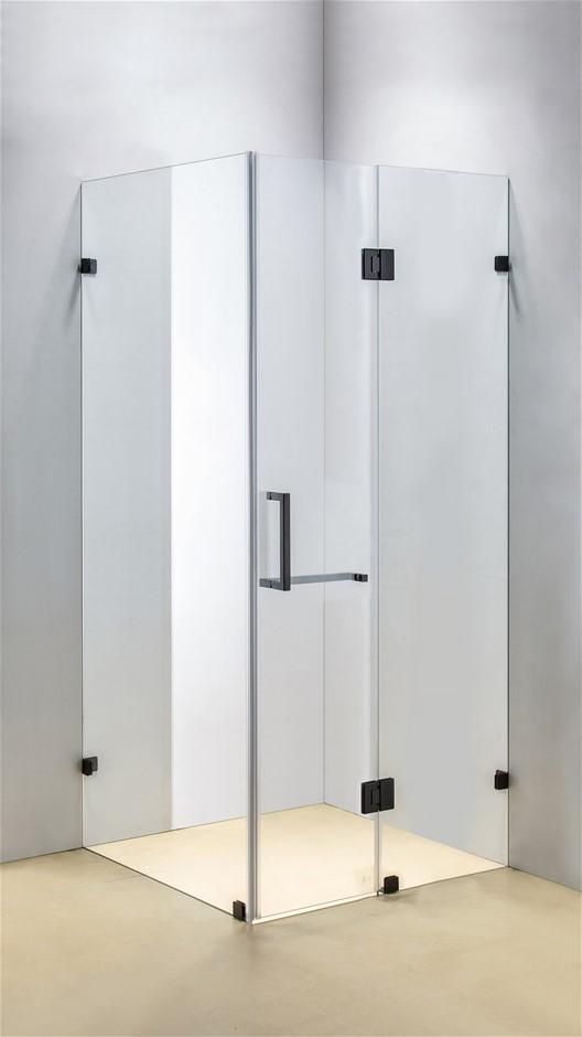 1200 x 1000mm Frameless 10mm Glass Shower Screen Della Francesca