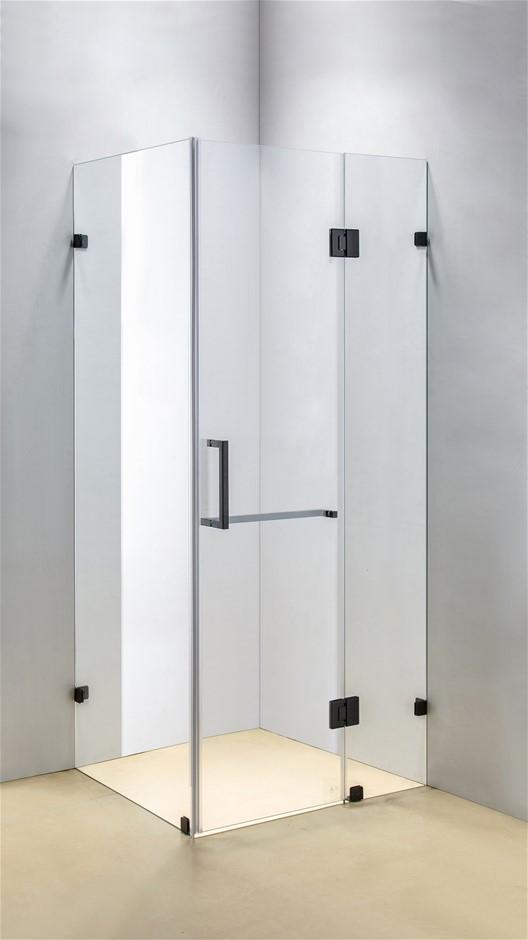 1000 x 800mm Frameless 10mm Glass Shower Screen Della Francesca