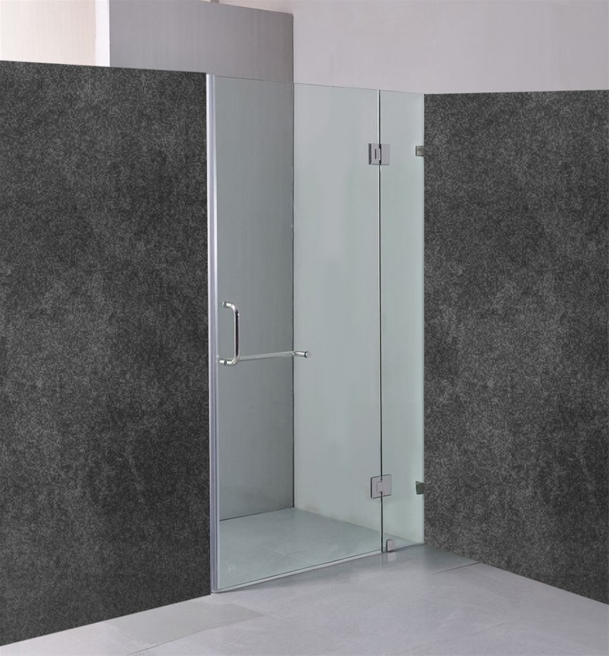 100 x 200cm Wall to Wall Frameless Shower Screen 10mm Glass Della Francesca