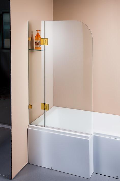 900 x 1450mm Frameless Bath Panel 10mm Glass Shower Screen Della Francesca