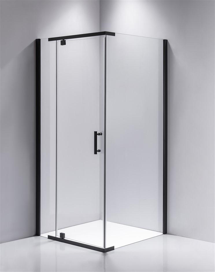 Shower Screen 1000x900x1900mm Framed Safety Glass Pivot Door
