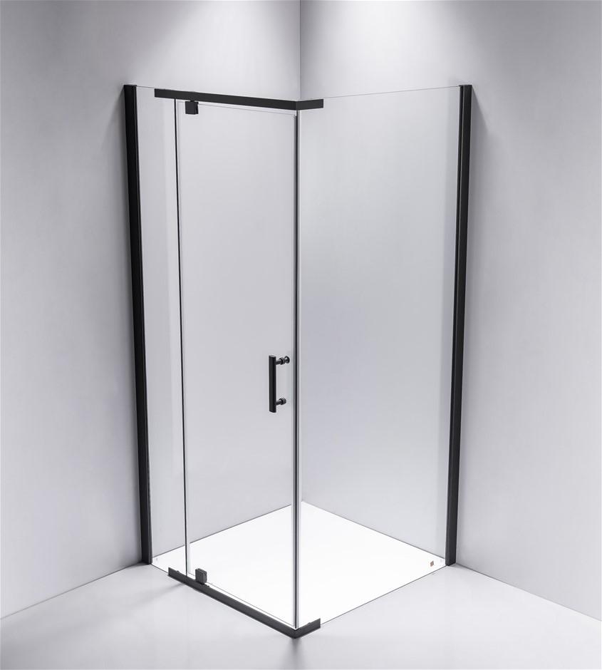 Shower Screen 1000x800x1900mm Framed Safety Glass Pivot Door
