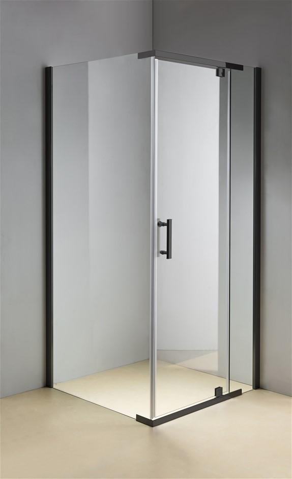 Shower Screen 1000x1000x1900mm Framed Safety Glass Pivot Door