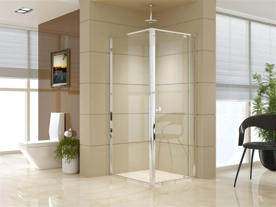Semi Frameless Shower Screen (74~82)x 195cm & (89~92)x 195cm Side