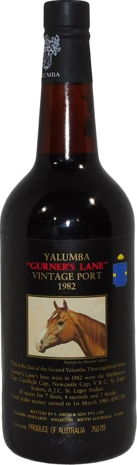 Yalumba Thoroughbred Series Gurner's Lane Vintage Port 1982 (1x 750mL), SA