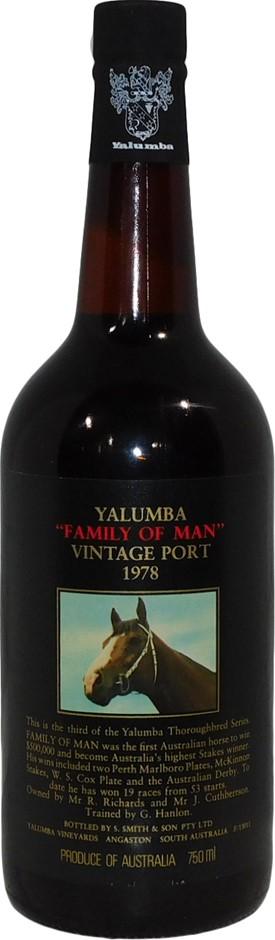 Yalumba Thoroughbred Series Family of Man Vintage Port 1978 (1x 750mL), SA
