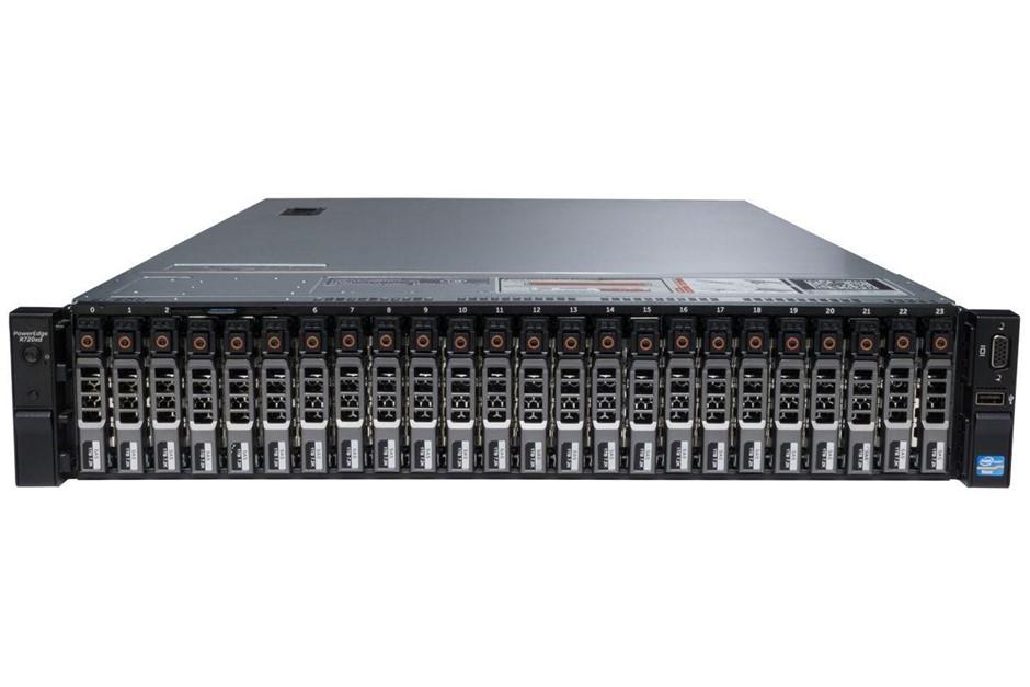 DELL R720XD SERVER, 2x E5-2680, 128GB, 21.6 TB
