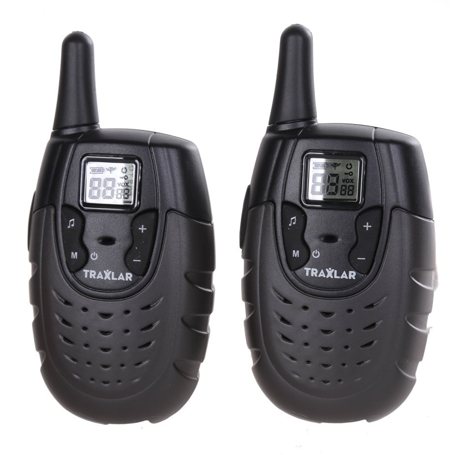 Pair TRAXLAR UHF CB Radios, 80 Channels, Range up to 3km, Call Tone Alert,