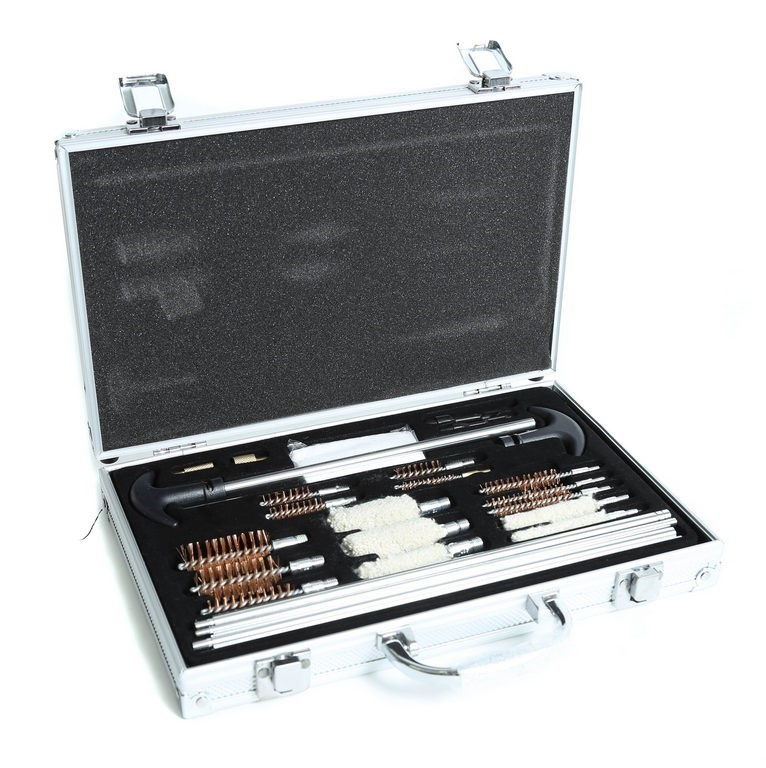 24-Piece Gun Cleaning Kit in Aluminium Carry Case. Buyers Note - Discount F
