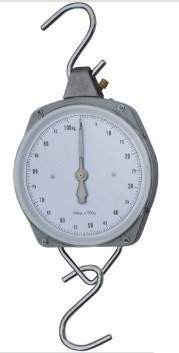 Spring Dial Faced Hanging Scale 50kg with Stainless Steel Hooks. Buyers Not