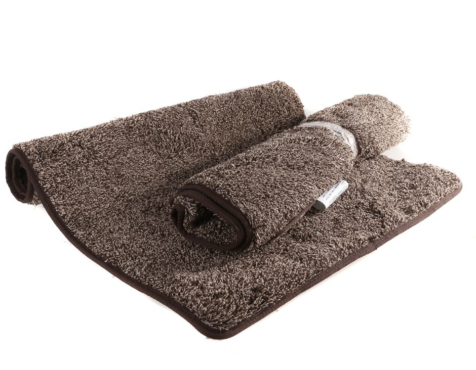 2 x EUROW Floor Mats with Rubber Backing, 90 x 60cm, 70% Cotton 30% Polyest