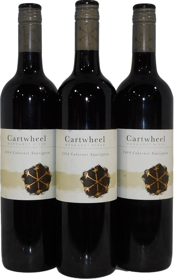 Cartwheel Margaret River Cabernet Sauvignon 2004 (3x 750mL), WA. Screwcap