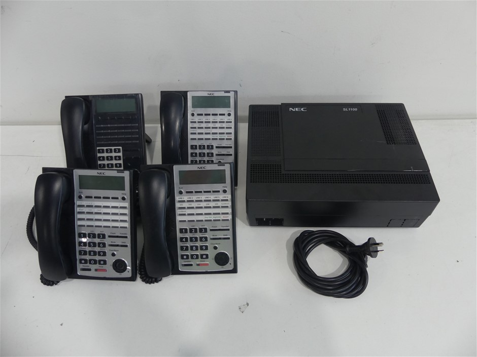 Carton of used telecommunications stock Contents - 1 x NEC SL 1100