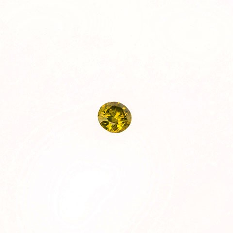 0.18ct Round brilliant cut yellow diamond