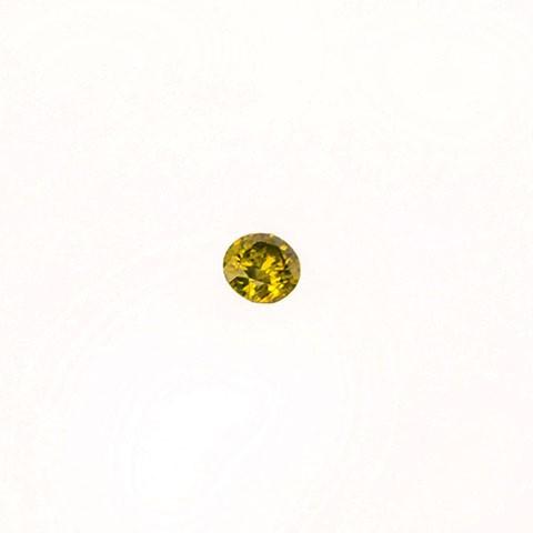 0.19ct Round brilliant cut yellow diamond